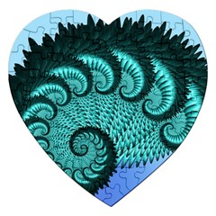 Fractals Texture Abstract Jigsaw Puzzle (Heart)