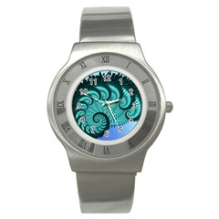 Fractals Texture Abstract Stainless Steel Watch