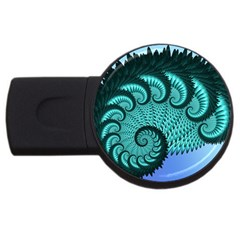 Fractals Texture Abstract USB Flash Drive Round (4 GB)