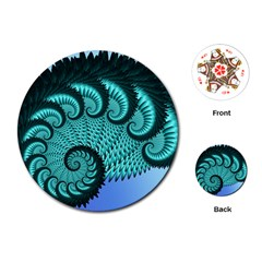 Fractals Texture Abstract Playing Cards (Round)