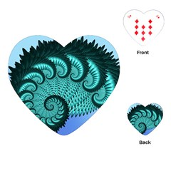 Fractals Texture Abstract Playing Cards (Heart)