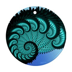 Fractals Texture Abstract Round Ornament (two Sides)