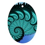 Fractals Texture Abstract Oval Ornament (Two Sides) Back