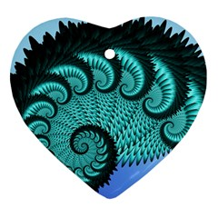 Fractals Texture Abstract Heart Ornament (Two Sides)