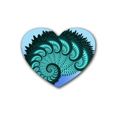 Fractals Texture Abstract Rubber Coaster (heart)