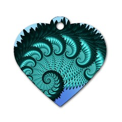 Fractals Texture Abstract Dog Tag Heart (two Sides)