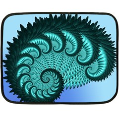 Fractals Texture Abstract Double Sided Fleece Blanket (Mini)