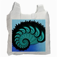 Fractals Texture Abstract Recycle Bag (One Side)