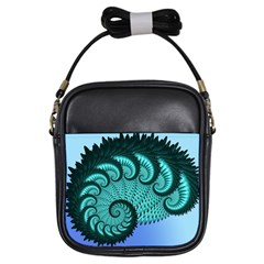 Fractals Texture Abstract Girls Sling Bags