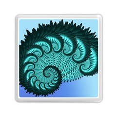 Fractals Texture Abstract Memory Card Reader (Square)