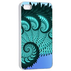 Fractals Texture Abstract Apple Iphone 4/4s Seamless Case (white)