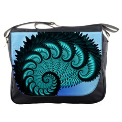 Fractals Texture Abstract Messenger Bags