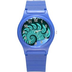 Fractals Texture Abstract Round Plastic Sport Watch (s)