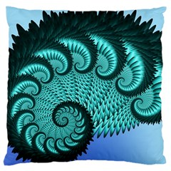 Fractals Texture Abstract Large Cushion Case (Two Sides)