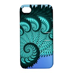 Fractals Texture Abstract Apple iPhone 4/4S Hardshell Case with Stand
