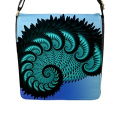 Fractals Texture Abstract Flap Messenger Bag (l)