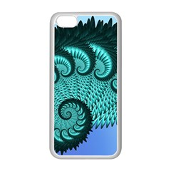 Fractals Texture Abstract Apple Iphone 5c Seamless Case (white)