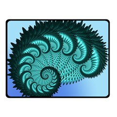 Fractals Texture Abstract Double Sided Fleece Blanket (small)