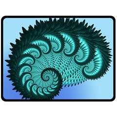 Fractals Texture Abstract Double Sided Fleece Blanket (large)