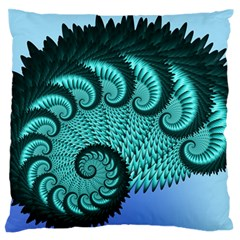 Fractals Texture Abstract Large Flano Cushion Case (two Sides)