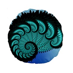 Fractals Texture Abstract Standard 15  Premium Flano Round Cushions