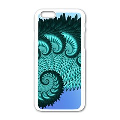 Fractals Texture Abstract Apple Iphone 6/6s White Enamel Case