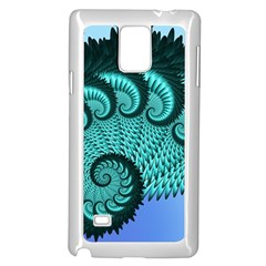 Fractals Texture Abstract Samsung Galaxy Note 4 Case (White)