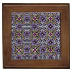 Vintage Abstract Unique Original Framed Tiles