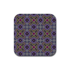 Vintage Abstract Unique Original Rubber Square Coaster (4 Pack)