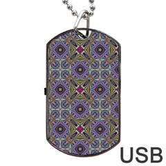 Vintage Abstract Unique Original Dog Tag USB Flash (Two Sides)