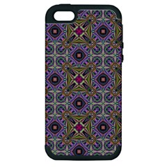 Vintage Abstract Unique Original Apple Iphone 5 Hardshell Case (pc+silicone)