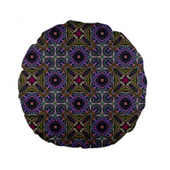 Vintage Abstract Unique Original Standard 15  Premium Round Cushions
