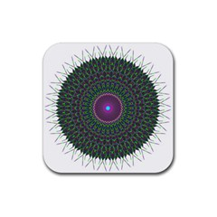 Pattern District Background Rubber Square Coaster (4 Pack)