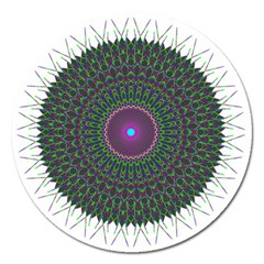 Pattern District Background Magnet 5  (round)