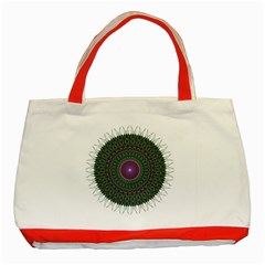 Pattern District Background Classic Tote Bag (Red)