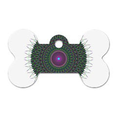 Pattern District Background Dog Tag Bone (Two Sides)