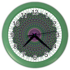 Pattern District Background Color Wall Clocks