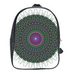 Pattern District Background School Bags(Large)