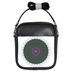 Pattern District Background Girls Sling Bags