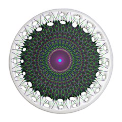 Pattern District Background Round Filigree Ornament (Two Sides)