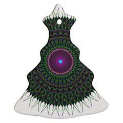 Pattern District Background Christmas Tree Ornament (two Sides)