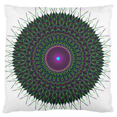 Pattern District Background Large Cushion Case (Two Sides)