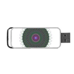 Pattern District Background Portable Usb Flash (one Side)