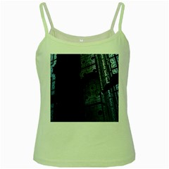 Graphic Design Background Green Spaghetti Tank