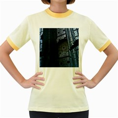 Graphic Design Background Women s Fitted Ringer T-Shirts