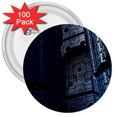 Graphic Design Background 3  Buttons (100 pack)
