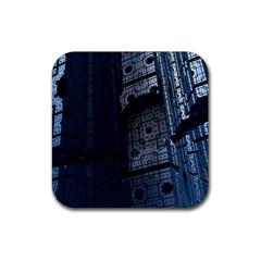 Graphic Design Background Rubber Coaster (square)