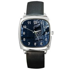 Graphic Design Background Square Metal Watch