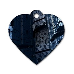 Graphic Design Background Dog Tag Heart (Two Sides)