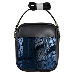 Graphic Design Background Girls Sling Bags